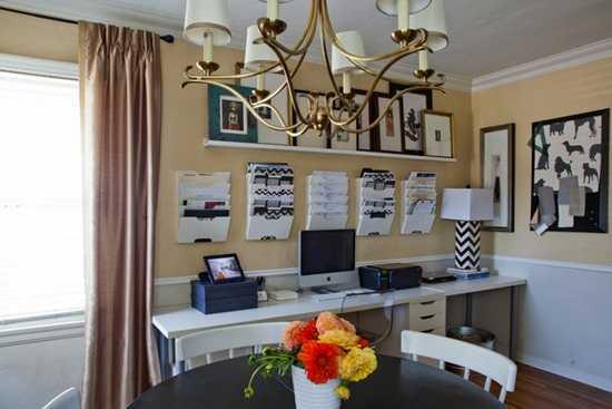 Camera cu dubla utilitate: birou si dining