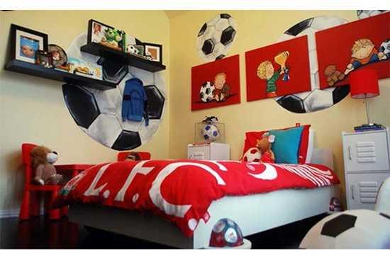 Camere cu tematica sportiva pentru copii