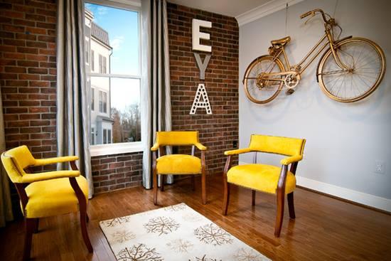 Amenajari interioare inspirate de biciclete