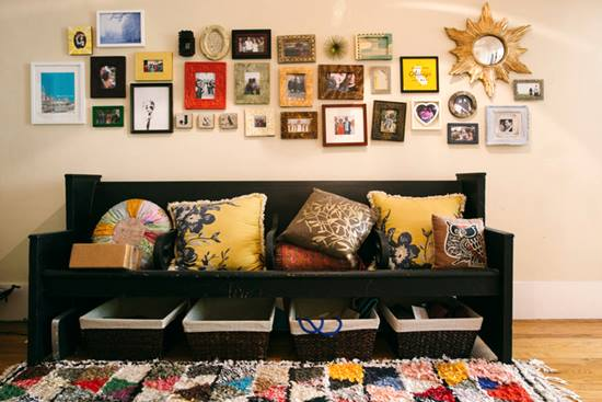 O casa chic decorata in stil eclectic