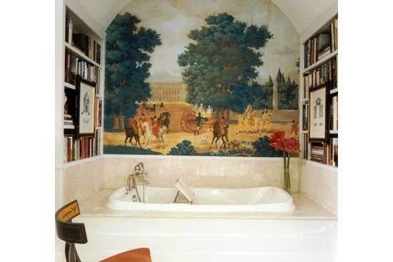 O baie care arata ca un living