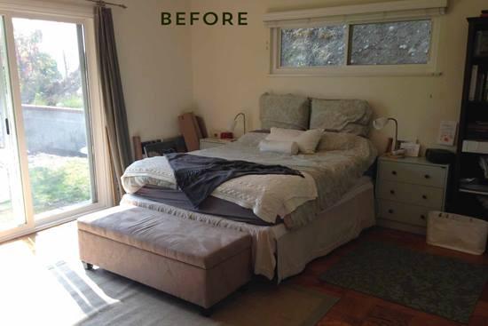 Animarea dormitorului: inainte si dupa