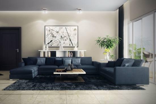 O canapea moderna intr-un living relaxant
