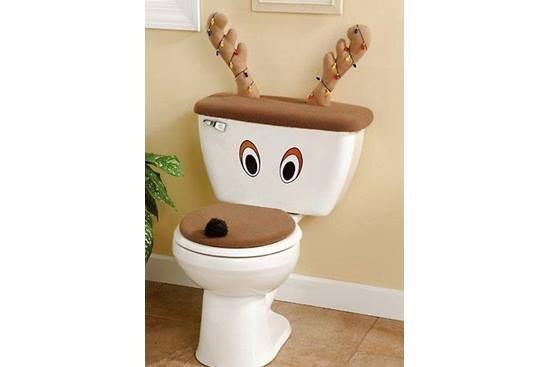 Craciun fericit... in sala de baie!