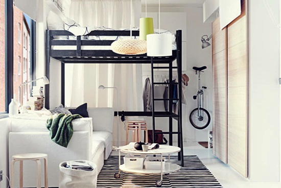 Despre dormitoarele mici
