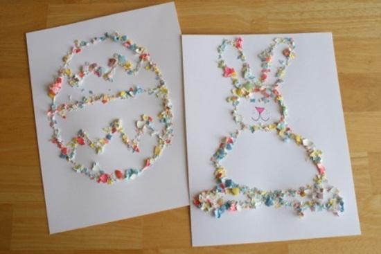 Pentru Sarbatorile Pascale, decoratiuni lucrate manual