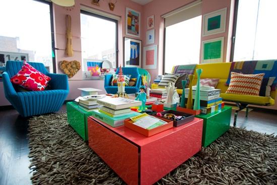 Un apartament plin de culoare
