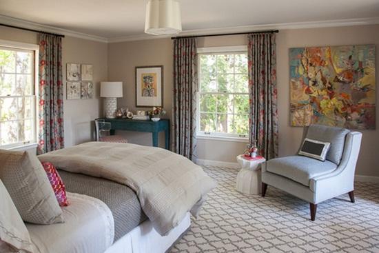 Vibratii de culoare in dormitor