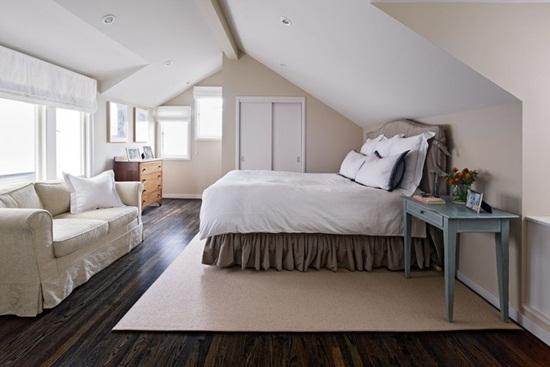 Dormitorul din mansarda