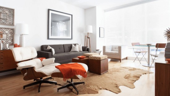 Casa pregatita de oaspeti cu o canapea extra confort