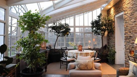 Terasa acoperita - varianta camerei cu soare