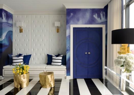 Moda amenajarilor interioare dicteaza: camera cu dungi