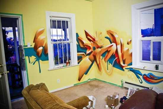 Arta urbana in living