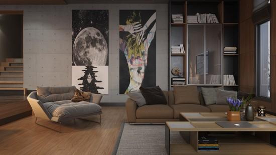 Pe perete – idei de tablouri pentru amenajari living I
