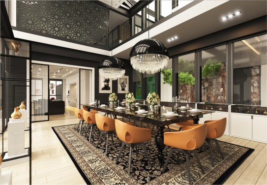 Cand clasicul intalneste modernul – Camera de dining