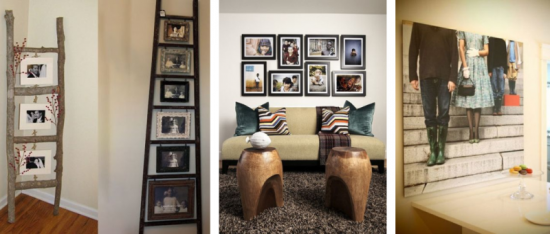 Fotografii de familie in living – idei de amenajare