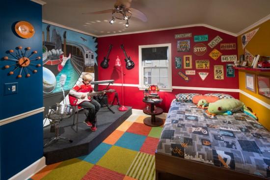 Muzica dicteaza amenajarea camerei pentru copii