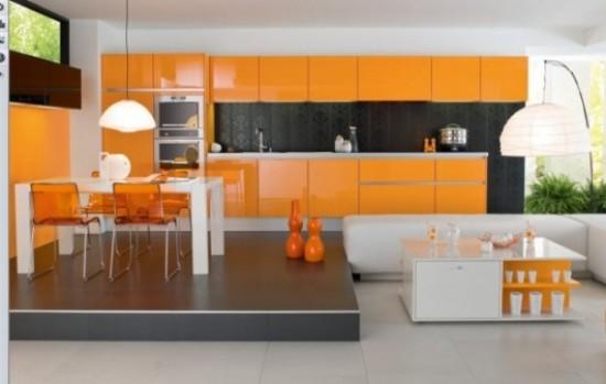 Alegeti culorile calde pentru un design modern