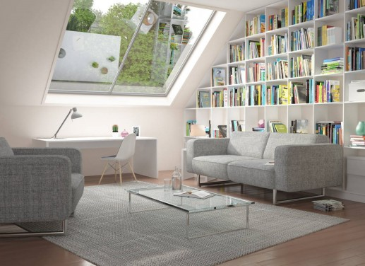 Amenajati o biblioteca in mansarda casei