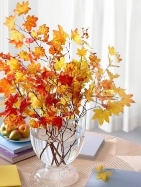Decoratiuni estetice din frunze