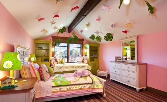 Decorati camera copiilor cu frunze