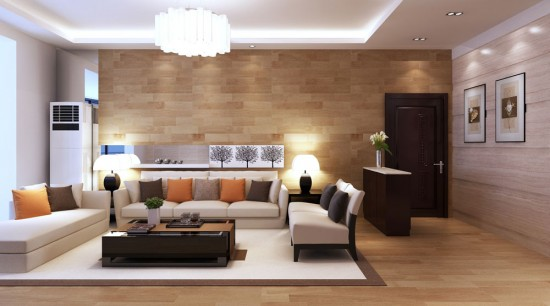 Design modern cu un singur element amenajari-living