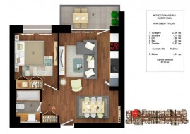 Apartament 2 camere, Cotroceni