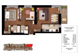 Apartament 3 camere, Cotroceni