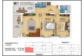 Apartament 3 camere, Muncii