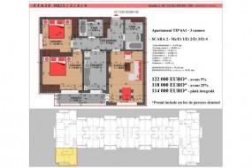 Apartament 3 camere, Dristor
