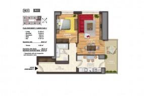 Apartament 2 camere, Unirii