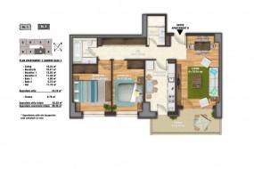 Apartament 3 camere, Unirii
