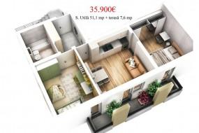 Apartament 3 camere, Selimbar