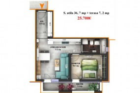 Apartament 2 camere, Selimbar