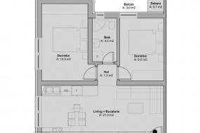 Apartament 3 camere, Sibiu