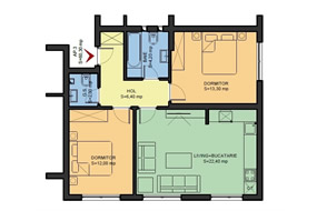 Apartament 3 camere, Popesti Leordeni