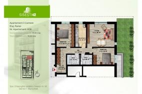 Apartament 3 camere, Baneasa
