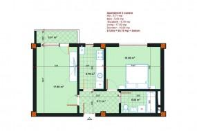 Apartament 2 camere, Metalurgiei