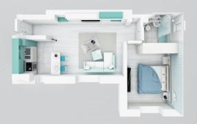 Apartament 2 camere, Mihai Bravu