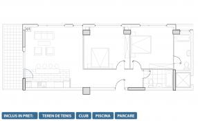 Apartament 3 camere, Snagov