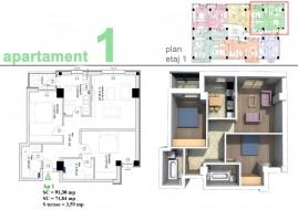 Apartament 3 camere, Pitesti