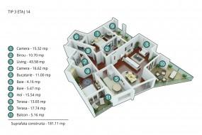 Apartament 4 camere, Stefan cel Mare