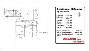 Apartament 3 camere, Mosilor