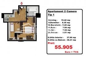 Apartament 2 camere, Iancului