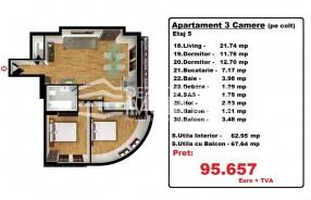 Apartament 3 camere, Iancului