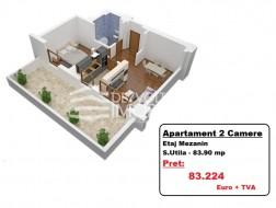 Apartament 2 camere, Tineretului