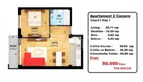 Apartament 2 camere, Doamna Ghica