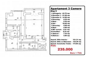 Apartament 3 camere, Floreasca