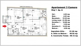 Apartament 3 camere, Mihai Eminescu