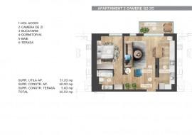 Apartament 2 camere, Barbu Vacarescu